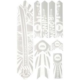 All Mountain Style Extra Kit di Protezione del Telaio 10 Pezzi, bianco/grigio